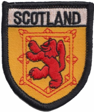Scotland Lion Rampant Small Shield Embroidered Badge (a068)